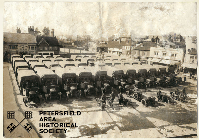 WW1 lorries Petersfield Square